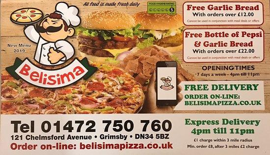 Belisima Pizza Grimsby Menu Prices Restaurant Reviews