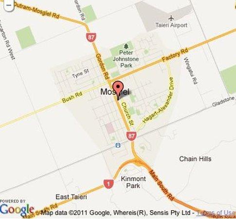 Mosgiel, Nouvelle-Zélande : Map