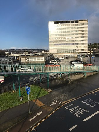 Plymouth Railway Station: From across the road.