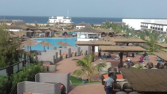 Melia Llana Beach Resort & Spa: View from the veranda outside the restaurant