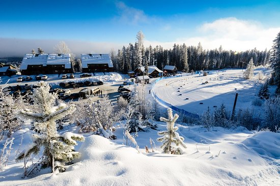 Kimberley, Canada: An overview of the lodge and stadium. Photo by Dan Clark