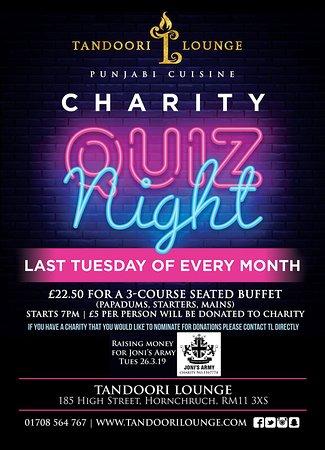 Monthly Charity Quiz night