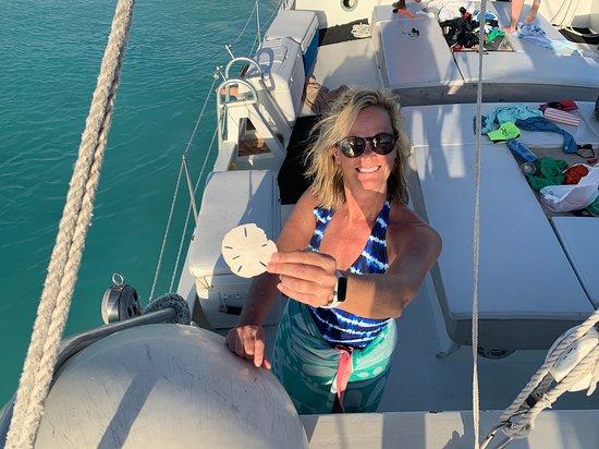Sonnenuntergang Segeln Sie an Bord des Good Ship Atabeyra: More sand dollars