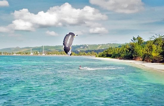 Garapan, Mariana Islands: Kitesurfing at Micro Beach, Saipan