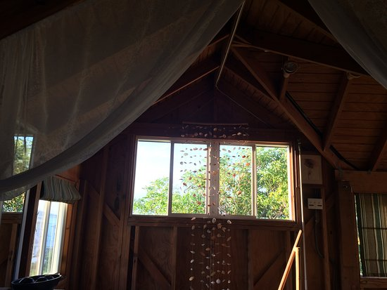 """Cades Bay, Antigua: View from the bed in the """"Love Shack"""""""
