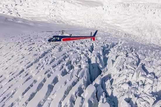 離開福克斯冰川的雙冰川直升機飛行