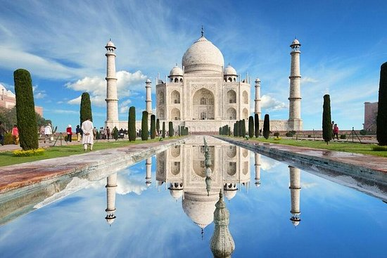 为期三天的私人豪华泰姬陵斋浦尔和德里之旅,来自德里的午餐