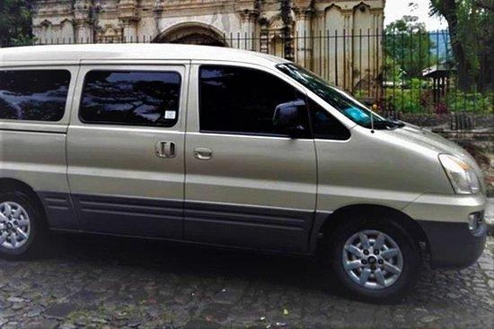Private transportation from La Antigua to Guatemala City with Minivan