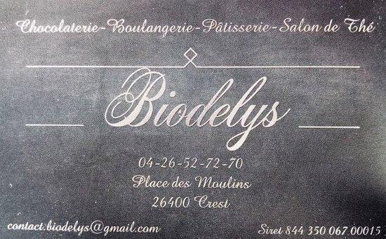 Bienvenue chez Biodelys! Chocolaterie, pâtisserie, restauration bio et végane!  Nous vous attendons place des Moulins à Crest.  Au plaisir de vous vous accueilir, à bientôt!
