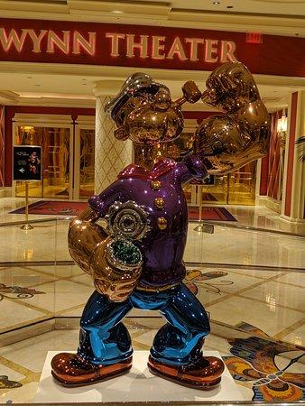 Popeye statue outside the theatre.