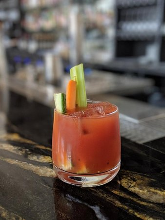 Bloody Mary: vodka, house made bloody mary mix, lime