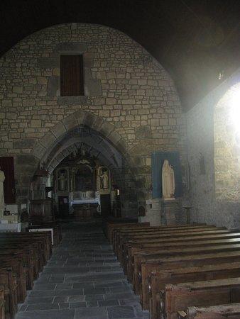 La Haye-Pesnel, France : Inside the old church of La Rochelle in Basse-Normandy