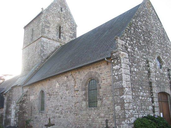 La Haye-Pesnel, France : the old church of La Rochelle in Basse-Normandy