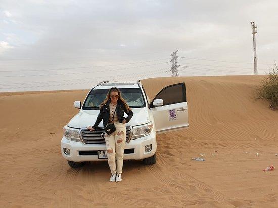 Dubai Desert Safari with Pamela Luescher and Celina Concina.