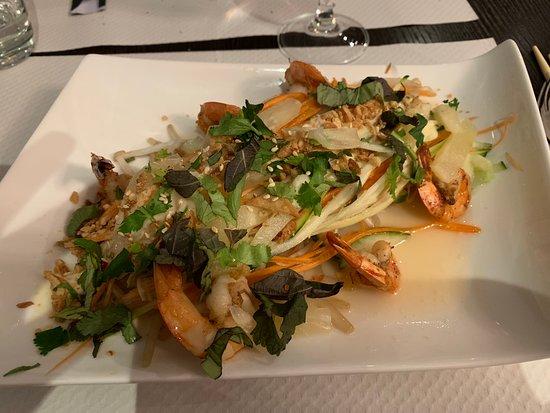 L'Orient : salade de crevette (légumes ultra frais)