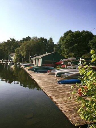 Eagles Mere, PA: Boat dock