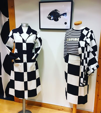 Zeist, Nederland: Beautiful graphic black and white prints from Marimekko. The original design from Finland.