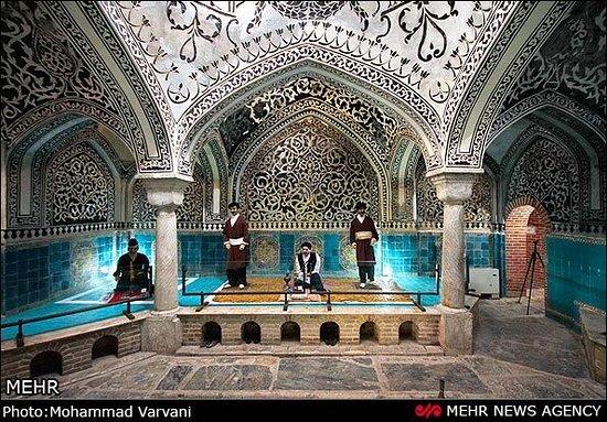 Hamedan Province, Iran: The bath of Hajj Torab or the twin bath in the Aliabad neighborhood opposite Haj Agha Torab Mosque of Nahavand is a symbol of Islamic archetecture...