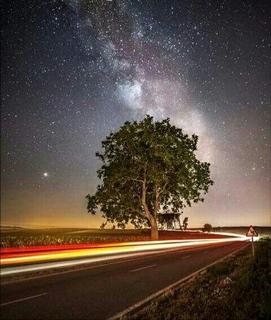 Navarra, España: Vía Láctea en el Valle de Yerri.