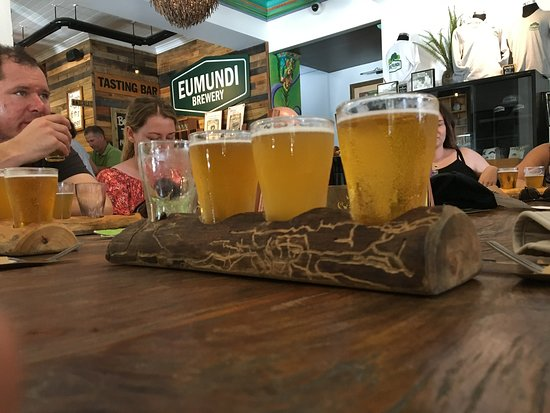 Eumundi, Австралия: The taster tray - one down, three to go