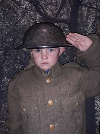 My son showing his respect for tbe gordon highlanders.