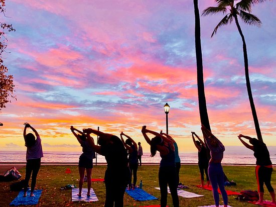 Beach Sunset Yoga Hawaii