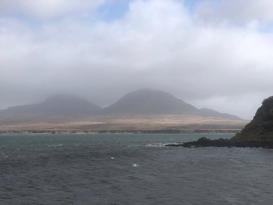 Port Askaig, UK: view from the pier at Bunnahabhain