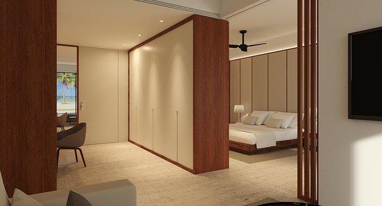 Bedroom of Royal Suite Ocean Front Side View