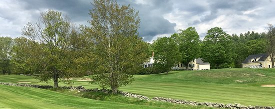 Walpole, NH: 9th fairway with the Hooper Manor in the background