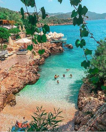 Turkey: Praia privada, Na província de Antalya na Costa Sul da Turquia 🇹🇷