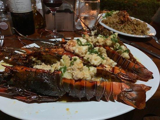 Kmbute Restaurante: Lobster dinner at Kmbute