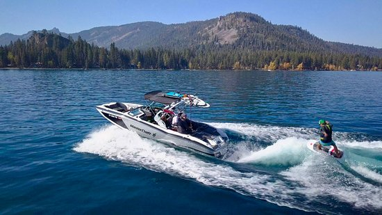 Tahoe Surf Company: only in Tahoe...  our wave custom tuned just for you.  photo by Paul Heran surfs up Jeb!