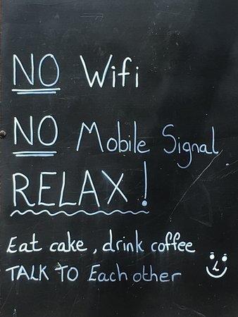 Drumbeg, UK: The wonderful sign outside the tearoom!