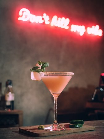 Peekaboo Canggu: The Spicy Wasabi, Signature cocktail