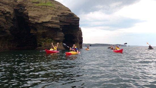 Tracadie-Sheila, Canada: The sea caves! Along the coast line
