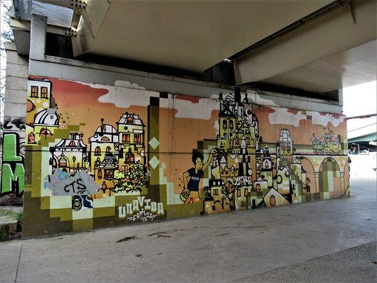"Fresque ""La gare du quai"""