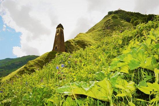 Shatili, Georgien: Lebaiskari tower, Khevsureti region, Georgia