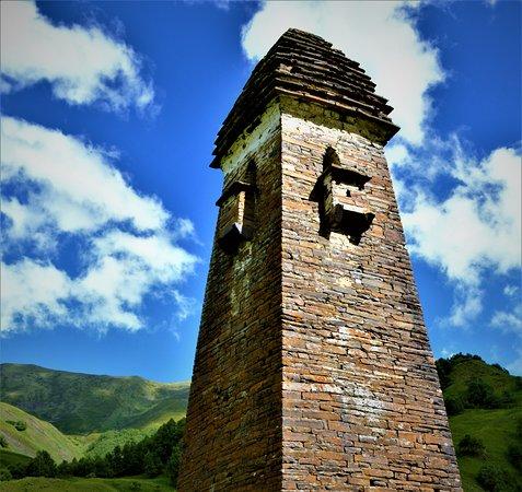 Шатили, Грузия: Lebaiskari tower, Khevsureti region, Georgia