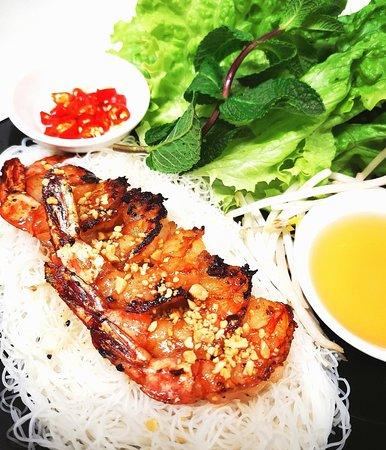 TOM NUONG BANH HOI : Crevettes grillées aux cheveux d'anges