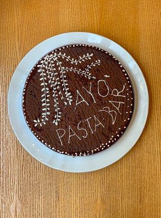 Ejemplo de uno de nuestros postres del día. Luciana, pastelera en Sardegna, realiza deliciosas tartas.