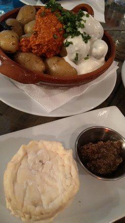 patatas und queso cabra