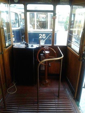Trams-Musée Luxembourg : tramway poste de conduite