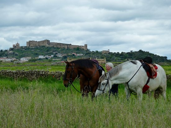 Castillo de Trujillo al fondo