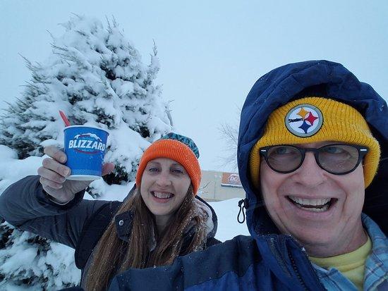 Willmar, MN: We got a blizzard in a blizzard, then they shut the restaurant down