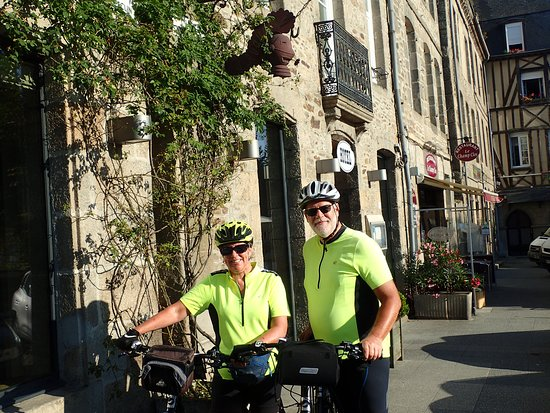 Hubbards, Canada: Leaving Dinan, Brittany, for the coast. Dinan is a must-see, and you see so much more from the seat of a bike ...
