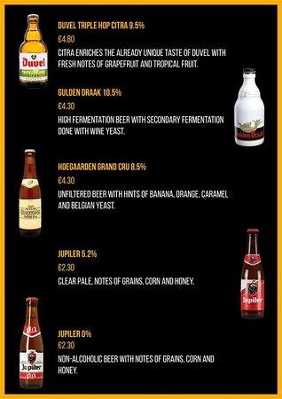 Beer Menu No.2