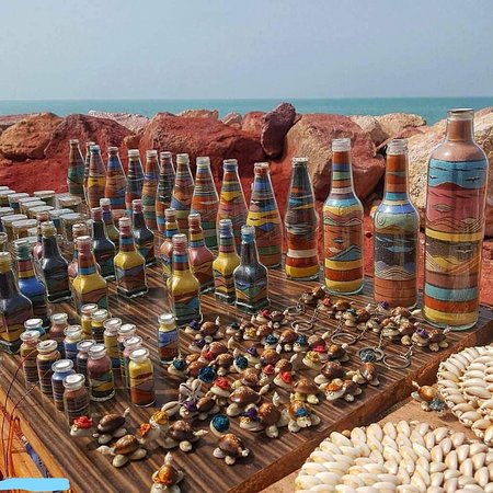 Handicrafts of island's colorful soil - hormoz - #PersianGulf
