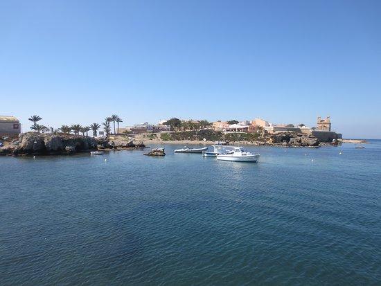 Blick vom Hafen Tabarca aus