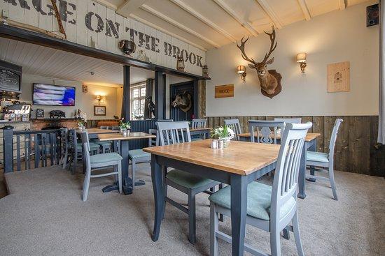 The George Inn, Middle Wallop, Stockbridge dining area