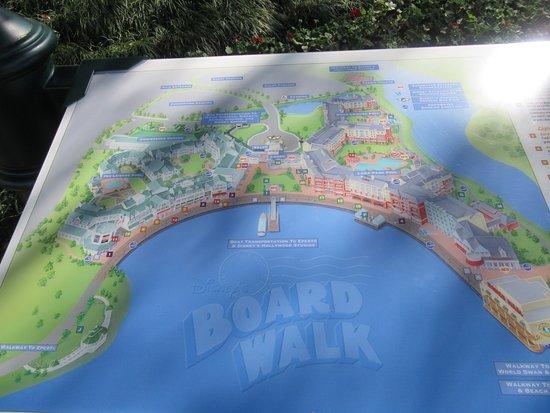 Disney\'s Boardwalk map - Picture of Disney\'s Boardwalk ...